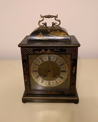 Lacquered Chinoiserie Bracket Clock Case and Brass Dial (for restoration)
