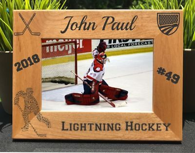 Personalized Engraved // Hockey // Picture Frame