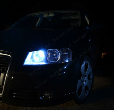 2x T10 9 LED WHITE XENON SIDELIGHTS CANBUS FREE ERROR AUDI A6 4F C6 2004-2011
