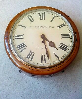 antique fussee dial clock made by manoah & Rhodes and sons LTD Bradford.