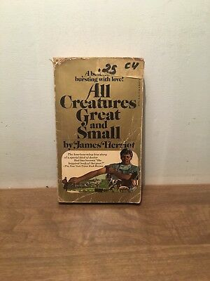 All Creatures Great and Small By James Herriot 8th Printing PB, 1974