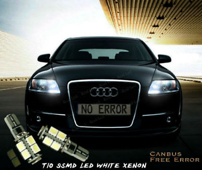 2x T10 9 LED WHITE XENON SIDELIGHTS FREE ERROR AUDI A6 S6 RS6 C4 C5 C6 4A 4B 4F