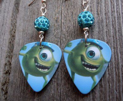 0f2e985de MONSTERS INC. SULLY Guitar Pick Earrings with Purple Pave Beads ...