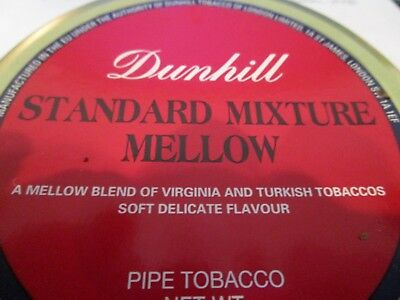SEALED DUNHILL STANDARD MIXTURE MELLOW COLLECTIBLE Pipe Tobacco Tin 50 Grams