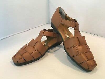 7a3f92ab00758 Women s Naturalizer Zeus Leather Sandals Tan Brown 7 M 735N13 NIB Shoes