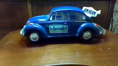Jim Beam Whiskey Decanter Car Volkswagen VW Beetle Bug 1973 Blue