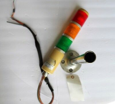 PATLITE MODEL SE-A SIGNAL TOWER 3 LITE RED,AMBER,GREEN  120V AC with POLE & BASE
