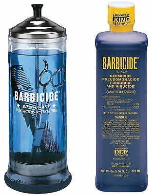 Barbicide disinfectant Jar, Solution 473ml For Salon Spas Medical Athletic Tools