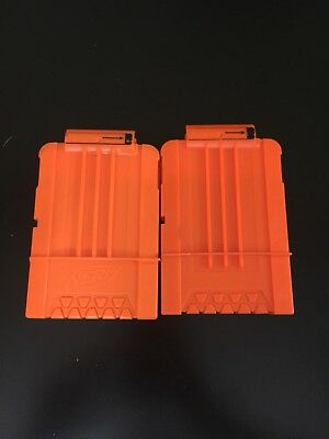 Lot Of 2 Nerf Dart Gun Ammo Magazine Clips Holds 6 Darts Free Shipping