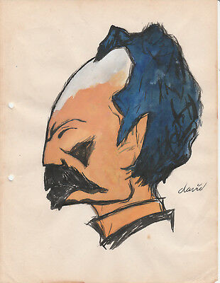 Cuban Cuba Jose Marti Drawing Caricature by David