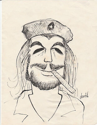 Cuban Cuba Che Drawing Caricature by David