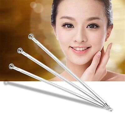 Blackhead Extractor Stainless Steel Comedone Acne Pimple Remover Needle Tool UL