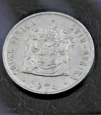 1974 South Africa 10 Cents Coin Afrika Silver Money Change Collectable