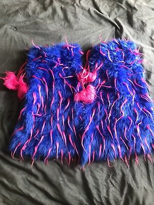 I Heart Rave Pink And Blue Fluffies