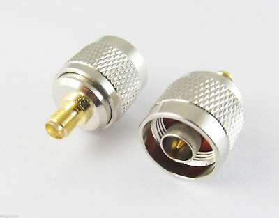 1x N Male Plug To SMA Female Jack Straight RF Coax Connector Adapter Converter