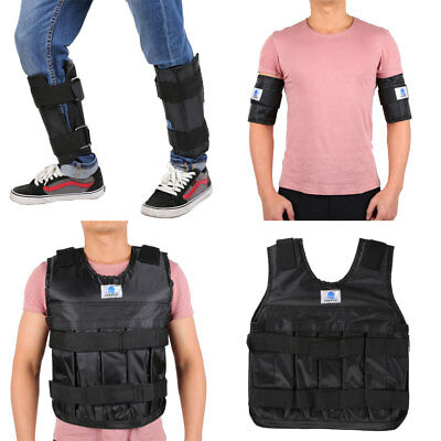 20kg Adjustable Weighted Vest Fitness Workout Gym Crossfit Training Waistcoat