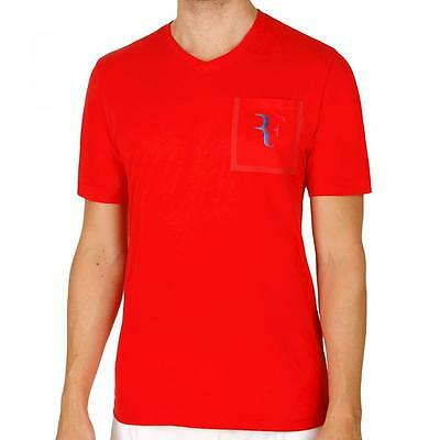 Nike Roger Federer Stealth pocket tee, small with gold to purple RF logo