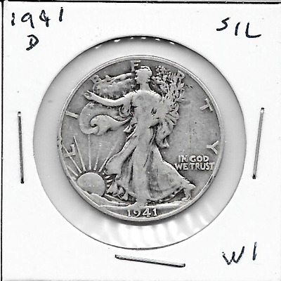 1941 D Walking Liberty Half Dollar - 90% SILVER