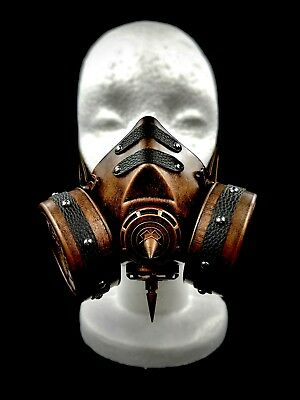 Bronze Goth Steam Punk Victorian Gas Mask Prop Mad Max Terminator Style Cosplay