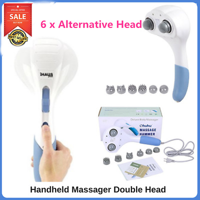 Electric Massager Handheld Full Body Massage Back Muscle Vibrating Relax Machine