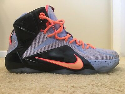buy online ad515 ba3bb Nike Lebron XII 12 Easter Aluminum Sunset, 684593-488, Men s Size 11.5