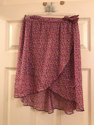 Besties Girl's Polyester Floral Skirt, Size Large (10/12)