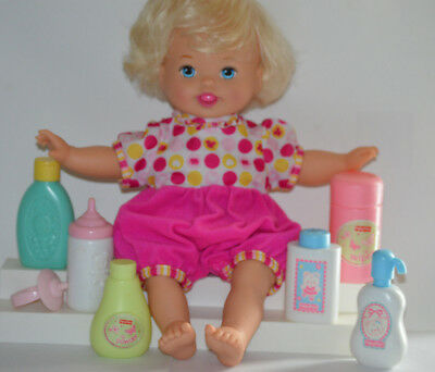 LITTLE MOMMY LAUGH & LOVE Baby Doll Talks, Bounces,Arms Move Mattel Fisher Price