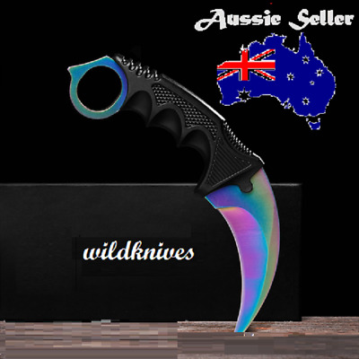 AUS SELLER CS GO Counterstrike  Colourful  Fixed Blade Karambit