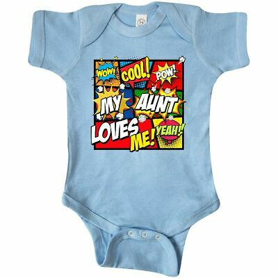 Inktastic My Aunt Love Me Infant Creeper Superhero Boy Mothers Day Family Child