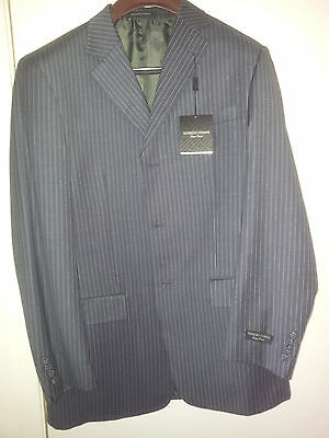 """Giorgio Cosani"" Man's grey striped suit size 42L"