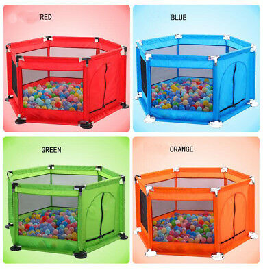 Portable Baby Safety Playpen Toddler Kids Play Yard Indoor Play Pens Game Fence