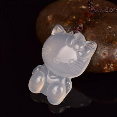 Natural jade agate Natural Stone Hello Kitty Pendant jewellery Lucky Amulet