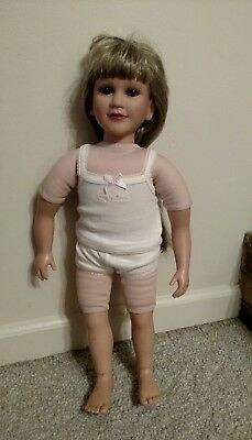 "My Twinn 23""  Poseable Doll 1997 head With 2005 Body, Blond Hair brown Eyes"