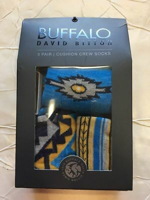 bd22a241fe9 New Fashion Buffalo 3 pairs Men s Premium DB Crew Socks size 10-13 With Gift