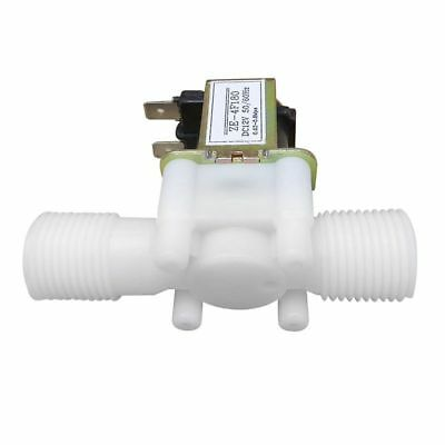 12V 1/2inch N/C Plastic Electric Solenoid Valve Magnetic Water Air Normally D8M4