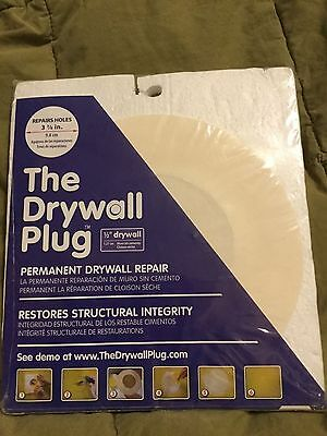 """NEW The Drywall Plug DP123 1/2"""" x 3-7/8"""" Repair Patch Kit DP123-  1/2"""" thickness"""