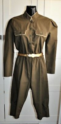 Vintage 70's KATIES Military Style Jumpsuit