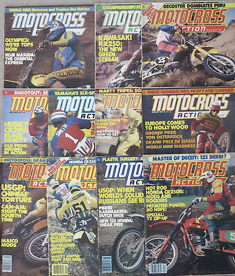 MOTOCROSS ACTION (MXA) Magazine 12 Issues Complete Year 1978