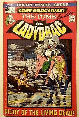 Lady Death Hot Shots #1 Tomb Of Dracula Homage Signed Brian Pulido Ltd 200 Coa