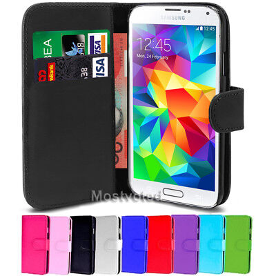 Leather Wallet Flip Case Cover For Samsung Galaxy S5