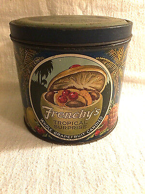 Early Florida Fruit Preserves Tin from Miami RARE & COLORFUL