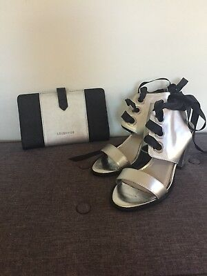 RMK size 37 Silver Lace-up Heels