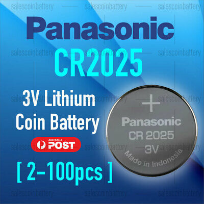Panasonic CR2025 Button Coin Lithium Battery 3V Batteries Stock in Melbourne