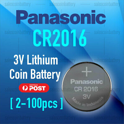 1-100 CR2016 Button Coin Lithium Battery 3V Batteries made in Japan stock in mel