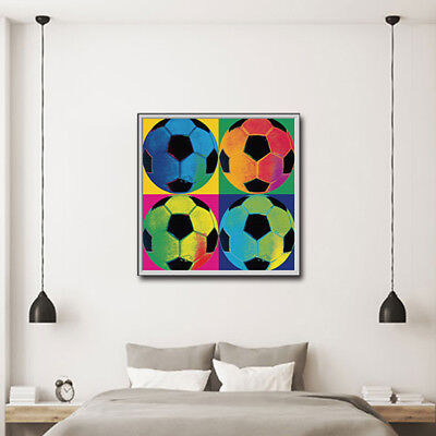 Canvas Print Picture Oil Painting Canvas Painting Unframed Football Match