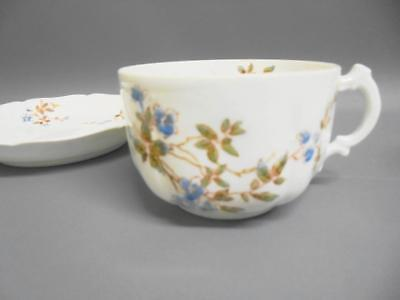 Two Antique Russian Bone China Porcelain GARDNER Tea Cups & Saucers 1800s
