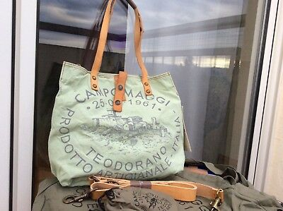 autumn shoes to buy fast delivery CAMPOMAGGI TASCHE SHOPPER canvas mint grün NEU in OVP NP 189 ...