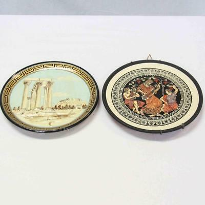 2 x Decorative Wall Hanging Plates - Greece and Cyprus #15013