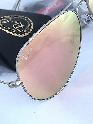 78d1b7dea RAY BAN AVIATOR RB3025 019/z2 58mm Silver Mate Brown Mirror Pink- Lenses