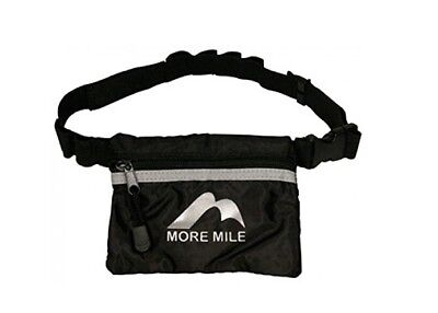 More Mile Running Cycling 8 Gel Belt Bag with Zipped Pouch Black/Silver *NEW*